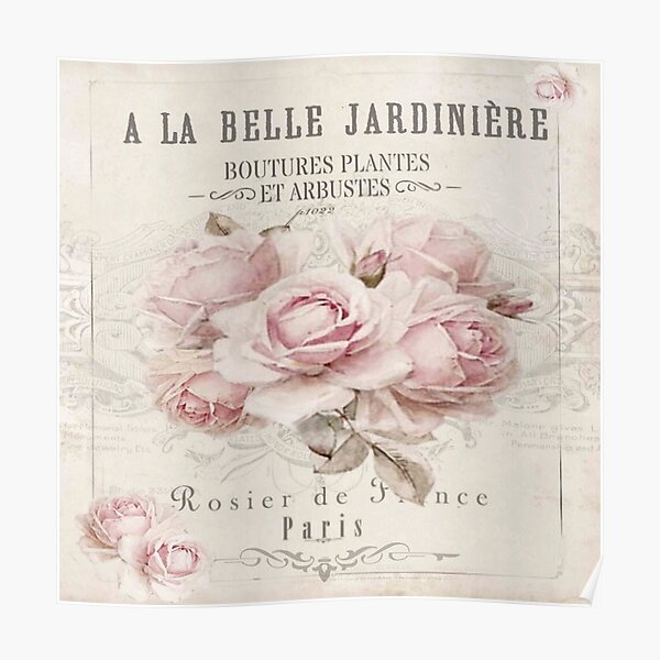 french shabby chic Poster