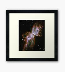 Butterfly, Nebula, HUBBLE, NASA, Telescope, Astronomy, Cosmos, Cosmic, Star cluster, Framed Print