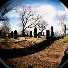 Fisheye in a Graveyard by Ian  James
