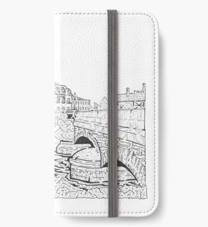 Along O'Brien's Bridge Maze (Galway, Ireland) iPhone Wallet