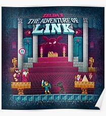 The Link Adventure of Zelda, too Poster