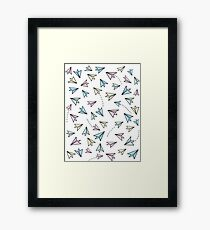 Pastel airplanes Framed Print