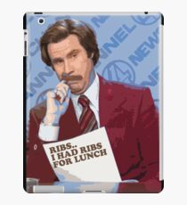 Ron Burgundy - Ribs iPad Case/Skin