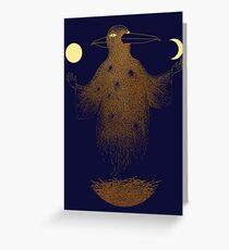 Crow Moon Shaman Greeting Card