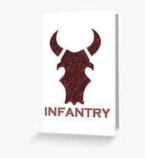 Infantry Greeting Card
