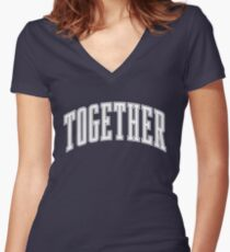Together Women's Fitted V-Neck T-Shirt