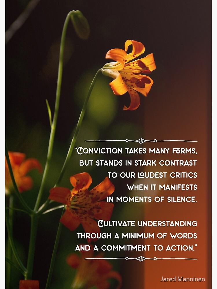 Actions Speak Louder Than Words by JaredManninen