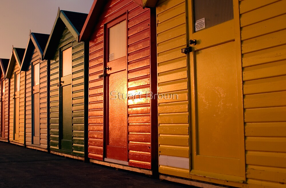 The beach huts by Stuart Brown