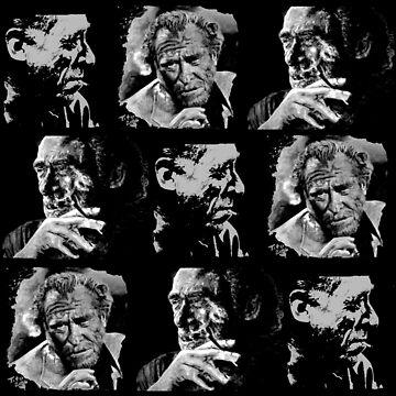 BUKOWSKI Collage - 3 Portraits by ARTito
