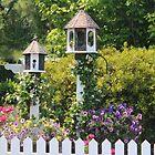 Birdhouse Flower Garden by Cynthia48