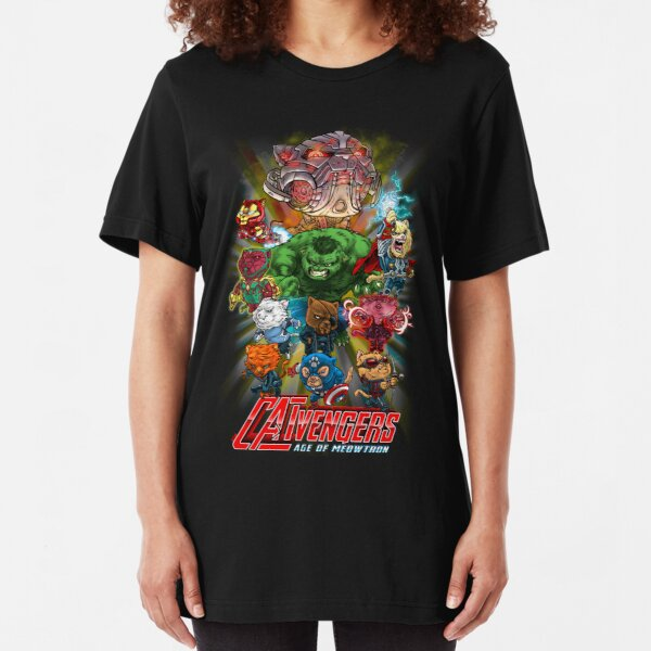 CATVENGERS-Age of Mewtron Slim Fit T-Shirt
