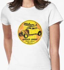 Milner's Speed Shop Women's Fitted T-Shirt