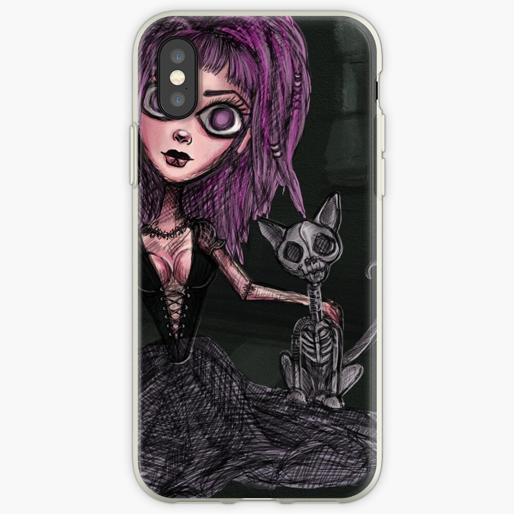 All You Need is Goth - ft. Skeleton Cat iPhone Case & Cover