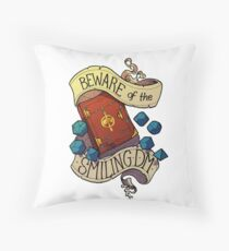 Beware of the Smiling Dungeon Master Throw Pillow
