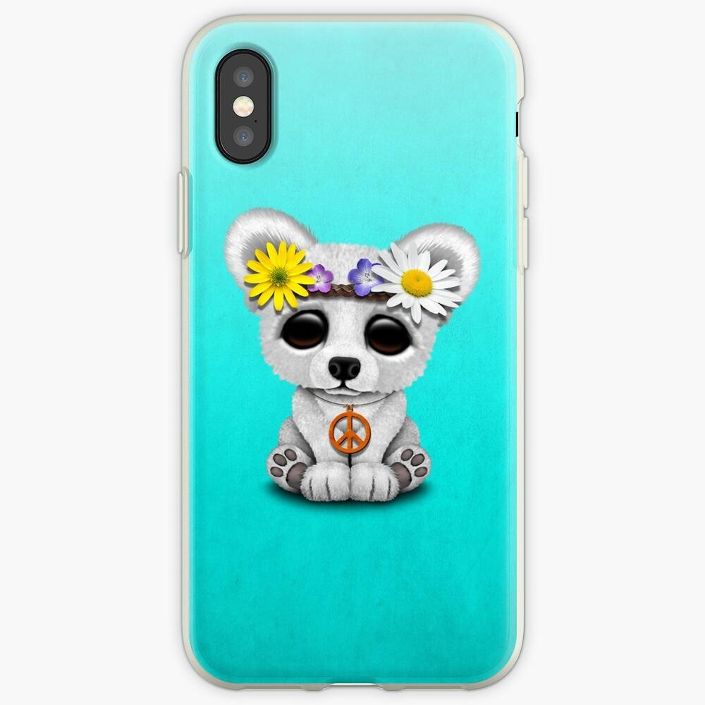 Cute Baby Eisbär Cub Hippie iPhone-Hülle & Cover
