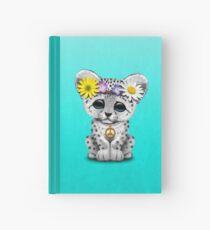 Cute Hippie Snow leopard Cub Hardcover Journal
