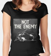 Not The Enemy Women's Fitted Scoop T-Shirt