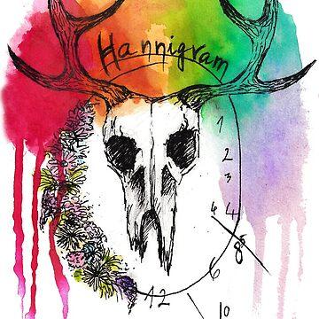 Hannigram Flower Skull by reketrebn13