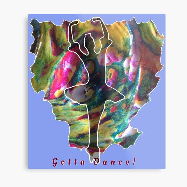 JUST DANCE COLOURFUL BALLERINA Metal Print