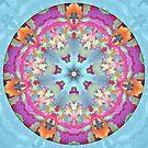Mosaic Mandala in Purple, Pink, Green and Orange by Kelly Dietrich