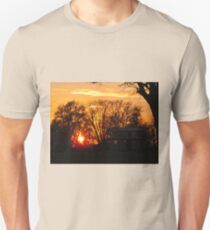 Kaskaskia stilt-house sunset T-Shirt