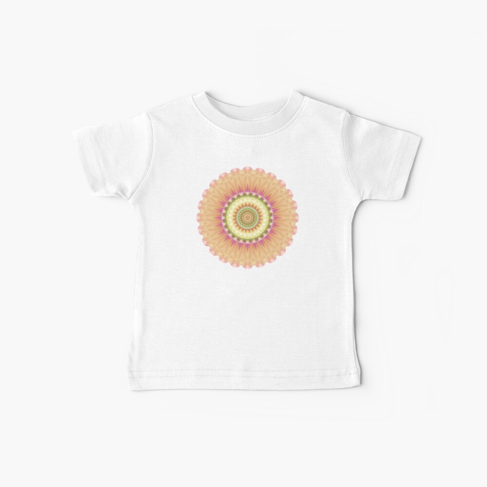 Beauty Mandala 01 in Pink, Yellow, Green and White Baby T-Shirt