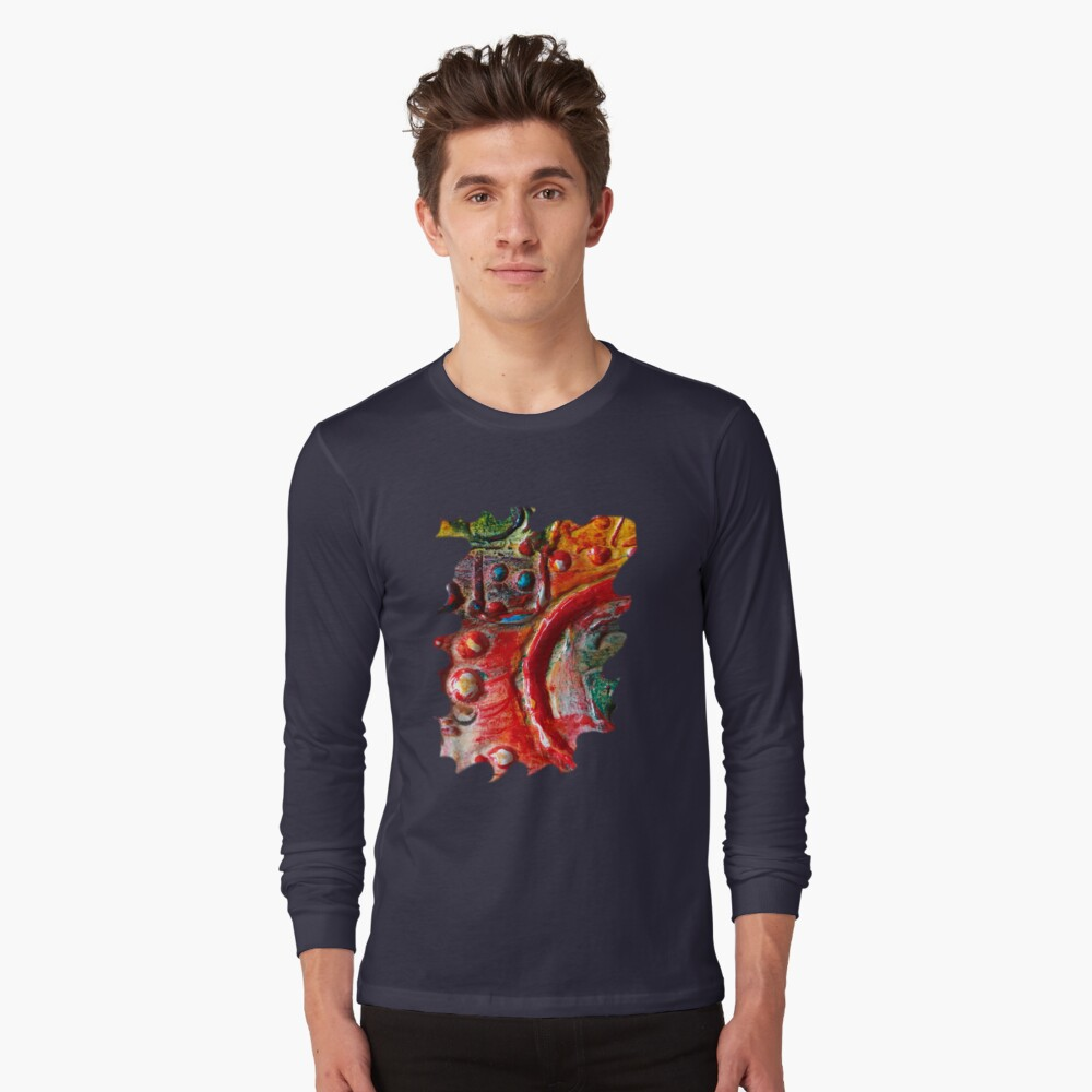 RED STEAMPUNK TEXTURES Long Sleeve T-Shirt