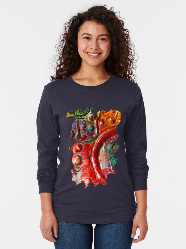Alternate view of RED STEAMPUNK TEXTURES Long Sleeve T-Shirt