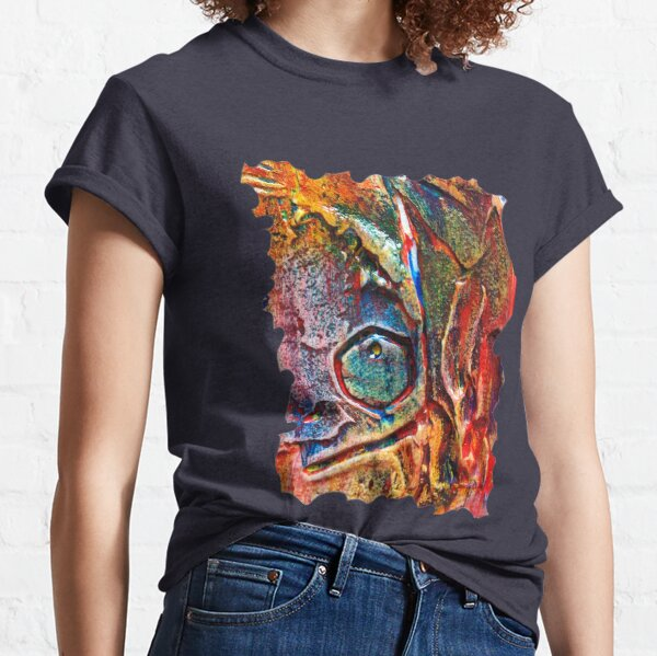COLOURFUL TEXTURED GEOMETRIC STEAMPUNK ABSTRACT Classic T-Shirt