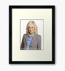 Parks & Rec WWLD? Framed Print