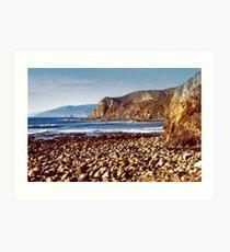 The Beach at Cambria Art Print