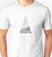 Mountains Are My Therapy for outdoor lovers T-Shirt