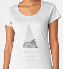 Mountains Are My Therapy for outdoor lovers Women's Premium T-Shirt