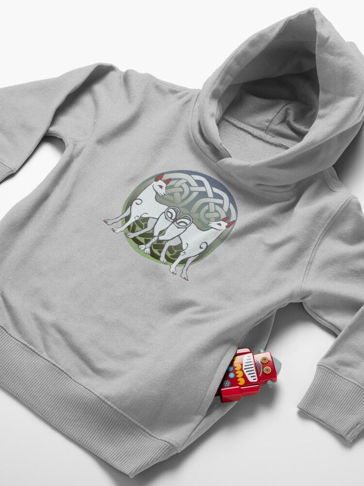 Alternate view of Cŵn Annwn | Hounds of Annwn Toddler Pullover Hoodie