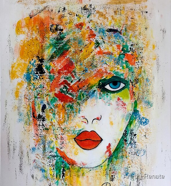 A colorful mind..... by Art-by-Renate