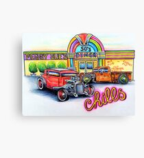Peggy Sues Diner Canvas Print