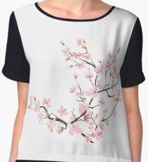 cherry blossom flowers Women's Chiffon Top