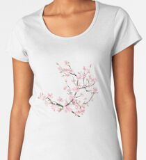 cherry blossom flowers Women's Premium T-Shirt