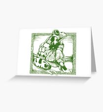 Frog, Profile Greeting Card