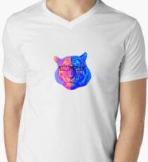 Pop Art IIII (Tiger) Men's V-Neck T-Shirt