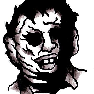 Leatherface Tattoo Flash by goatgraff