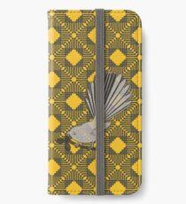 Fantail kowhai iPhone Wallet