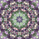 Fractal Ribbon Mandala in Green, Pink, Purple, and Yellow by Kelly Dietrich