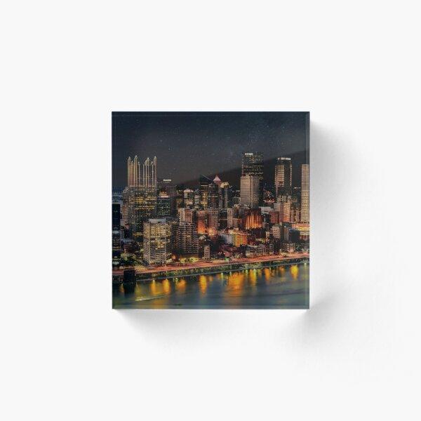 Nights in Pittsburgh Acrylic Block