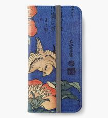 'Flowers' by Katsushika Hokusai (Reproduction) iPhone Wallet/Case/Skin