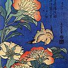 'Flowers' by Katsushika Hokusai (Reproduction) by Roz Abellera Art Gallery