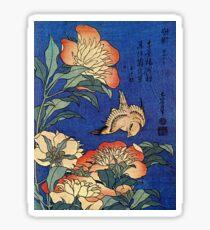 'Flowers' von Katsushika Hokusai (Reproduktion) Sticker