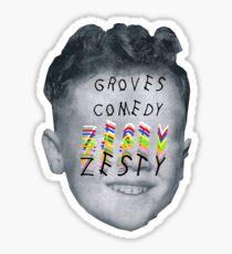 Groves Comedy logo (Zesty style) Sticker
