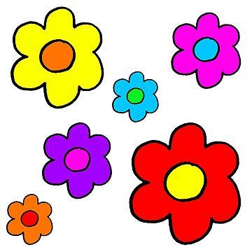 Pop Flower White by loeye