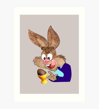 Easter bunny  [6492 Views] Art Print